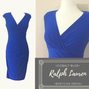 EUC Lauren Ralph Lauren Cobalt Bodycon Career dres